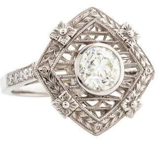 d Collection Sophia Platinum 1.3ctw Diamond Ring