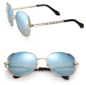 Roberto Cavalli 56MM Metal& Swarovski Crystal Sunglasses