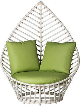 David Francis Furniture Palm Lounge Chair - Green Sunbrella