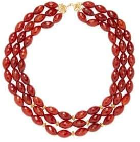 Red Carnelian Beaded Layer Necklace