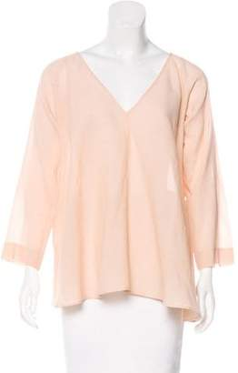 Giada Forte Wool-Blend Long Sleeve Top