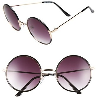 Women's A.j. Morgan 'Oh Nice' 55Mm Round Sunglasses - Black $24 thestylecure.com
