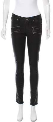 Paige Mid-Rise Coated Jeans w/ Tags