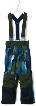 Stella McCartney camouflage print suspender trousers