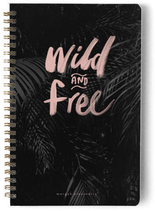 Wild and Free Day Planner, Notebook, or Address Book