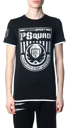 Philipp Plein Squad Black And Silver T-shirt