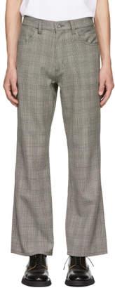 Christian Dada Grey Glen Plaid Flared Trousers