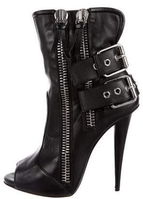 Giuseppe Zanotti Leather Open Toe Boots TIVXpAj8