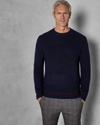 Ted Baker LATARTT Tall chunky textured wool crew neck