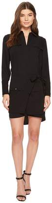Laundry by Shelli Segal Crepe Shirtdress with Removable Skirt Women's Dress