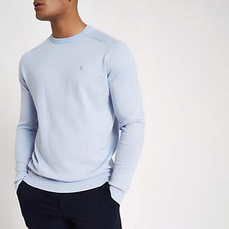 River Island Light blue slim fit crew neck sweater