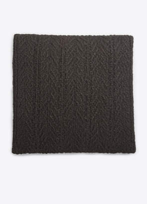 Vince Cable-Knit Wool and Cashmere Pillow