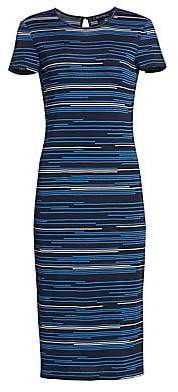 St. John Women's Intarsia Stripe Knit Midi Dress