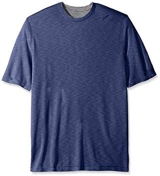 Van Heusen Men's Size Big and Tall Two Tone Short Sleeve Crew Neck Doubler Tee