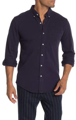 Knowledge Cotton Apparel Pique Long Sleeve Shirt
