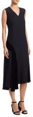 Akris Punto Velvet Circle Inset Midi Dress
