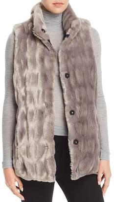 Via Spiga Reversible Faux Fur Vest