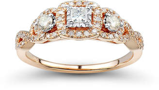 MODERN BRIDE Love Lives Forever 1/2 CT. T.W. White and Champagne Diamond Engagement Ring