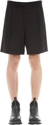 Raf Simons Wool Blend Shorts W/ Pleats
