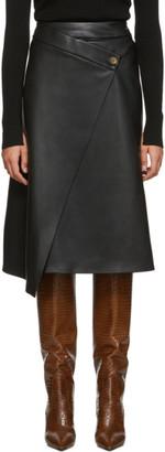 Aeron Black Nola Wrap Button Skirt