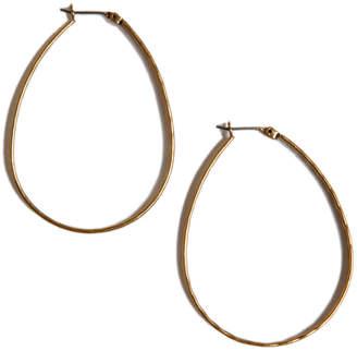"""Lucky Brand Earrings, Medium 1-3/4"""" Oblong Hoop"""