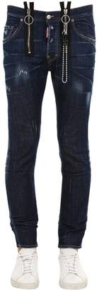 DSQUARED2 16cm Skater Cotton Denim Jeans W/ Chain