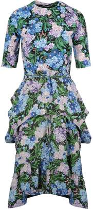 Balenciaga Ruffled Floral Dress