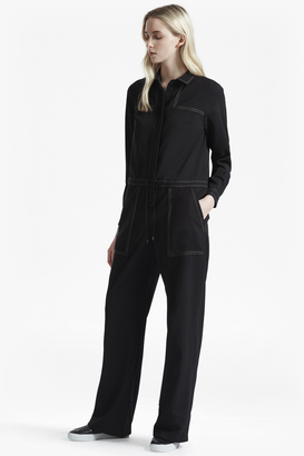 French Connection Segal Stitch Detail Wide Leg Jumpsuit