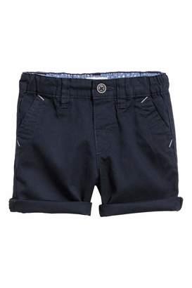 H&M Cotton Shorts - Dark blue - Kids