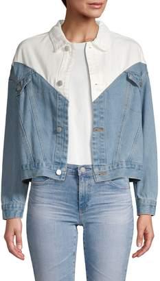 Lea & Viola Colorblock Denim Jacket