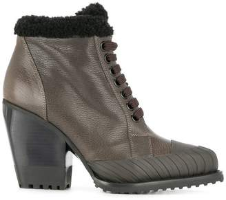 Chloé lace-up shearling boots
