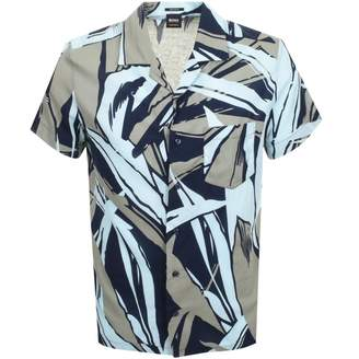 BOSS Casual Short Sleeved Rhythm Shirt Blue