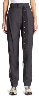 Proenza Schouler Belted Wool-Blend Pants
