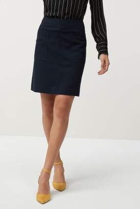 Next Womens Navy Pocket Mini Skirt