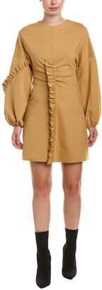 Tibi Ruffle Mini Dress