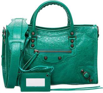 Balenciaga Classic Metallic City Small Leather Shoulder Bag