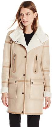 T Tahari Women's Angie Faux Shearling Jacket