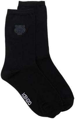 Kenzo Tiger logo embroidered socks
