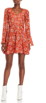 J.o.a. Floral Woven Skater Dress