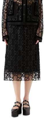 Gucci Macrame Logo Skirt