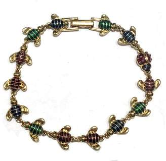 Joan Rivers Gold Tone Hardware with Colorful Enamel Bees Lady Bug Bracelet