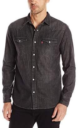 Levi's Men's Standard Barstow Denim Western Snap-Up Shirt