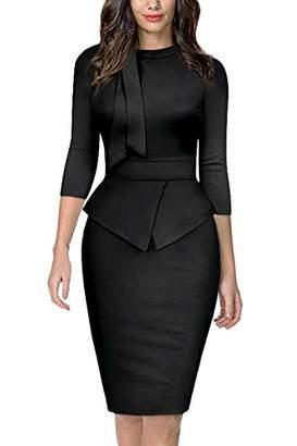 Moyabo Knee Length Dresses for Women 60s Retro Empire Waist Special Occasion Party Dress