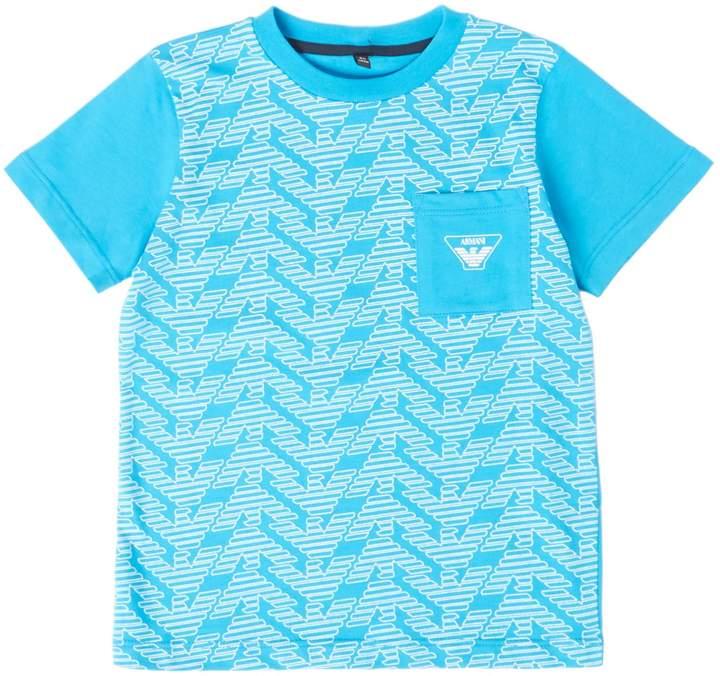 Boys Big Logo Printed Short Sleeve T-Shirt