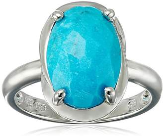 Sterling Turquoise Bohemian Oval Ring