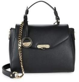 Versace Leather Top Handle Satchel Bag