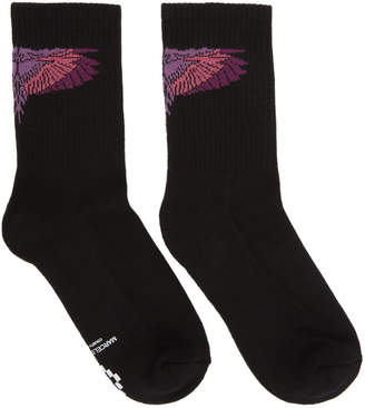Marcelo Burlon County of Milan Black Wings Short Socks