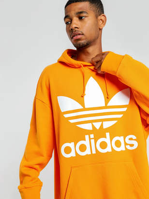 adidas Trefoil Oversize Hoodie in Bright Orange