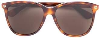 Gucci oversize gradient round sunglasses