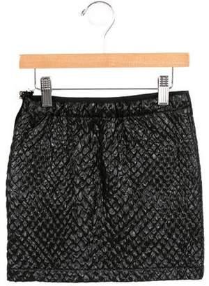 Lanvin Girls' Textured Metallic Skirt w/ Tags